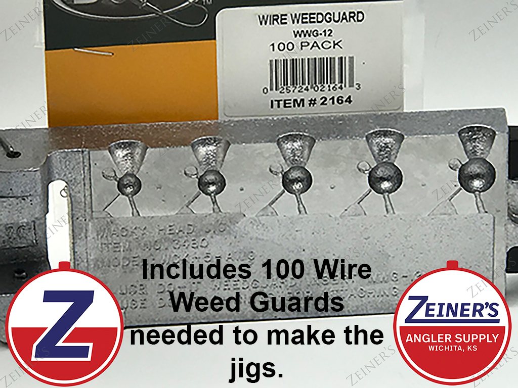 3480 New Do-It Wacky Head Jig Mold with Wire Weedguards - 1/16-1/4 ...